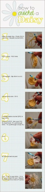 http://www.theexperimentalhome.com/how-to-crochet-a-daisy/